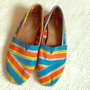 Bright colored Tom espadrilles